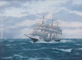 Maritime:Paintings, CHARLES F. KENNEY (American, 20/21st century). Bath Downeaster'A.J. Fuller'. Oil on canvas. 22 x 30 inches (55.9 x 76.2...