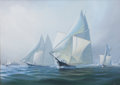 Maritime:Paintings, LEONARD JOHN PEARCE (British, b. 1932). Great Ocean Race,1866. Oil on canvas. 20 x 28 inches (50.8 x 71.1 cm). Signedl...
