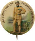 Political:Pinback Buttons (1896-present), Theodore Roosevelt: Standing V.P. Pin....