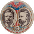 Political:Pinback Buttons (1896-present), Roosevelt & Fairbanks: Beautiful Hamilton Club Jugate....