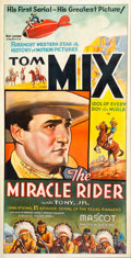 Memorabilia:Poster, Tom Mix The Miracle Rider Serial Three Sheet Poster (Mascot,1935)....