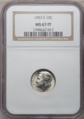 Roosevelt Dimes: , 1953-S 10C MS67 Full Bands NGC. NGC Census: (28/1). PCGS Population(12/1). Mintage: 39,180,000. Numismedia Wsl. Price for ...