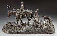 GRANT SPEED (American, 1930-2011) On to a Better Range, 1968 Bronze with patina 11-1/2 inches (29