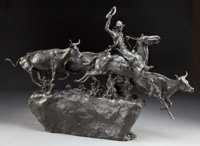 GRANT SPEED (American, 1930-2011) Over the Cutback, 1972 Bronze with patina 22 inches (55.9 cm)