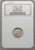 Three Cent Nickels: , 1867 3CN MS64 NGC. NGC Census: (164/47). PCGS Population (157/55).Mintage: 3,915,000. Numismedia Wsl. Price for problem fr...