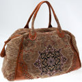 Luxury Accessories:Travel/Trunks, Heritage Vintage: Isabella Fiore Large Carpet Duffel Bag. ...