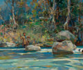 Fine Art - Painting, American:Other , WALTER GRANVILLE-SMITH (American, 1870-1938). Trout Fishing.Oil on canvas. 25 x 30 inches (63.5 x 76.2 cm). Signed lowe...