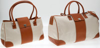 Heritage Vintage: Lambertson Truex Classic Canvas and Leather Travel Set including Medium Tote and Duffel Bag