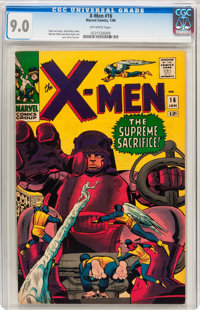 X-Men #16 (Marvel, 1966) CGC VF/NM 9.0 Off-white pages