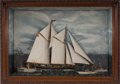 Maritime:Decorative Art, PAIR OF SHIP MODEL DIORAMAS. Two vintage, early 20th centuryshadowbox dioramas of sailing vessels. A British clipper and a ...(Total: 2 Items)
