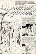 "Original Comic Art:Panel Pages, Jack Kirby and Al Williamson Race For the Moon #3 ""Garden ofEden"" Title Page 1 Original Art (Harvey, 1958)...."