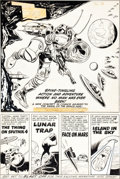 "Original Comic Art:Panel Pages, Jack Kirby and Marvin Stein Race For the Moon #2 ""In ThisIssue"" Contents Page Original Art (Harvey, 1958)...."