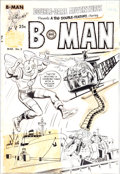 Original Comic Art:Covers, Joe Simon Double Dare Adventures #2 B-Man Cover Original Art(Harvey, 1966)....