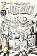 Original Comic Art:Covers, Joe Simon Unpublished Jigsaw (Big Hero Adventures) #3 CoverOriginal Art (Harvey, c. 1967)....