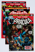 Bronze Age (1970-1979):Horror, Tomb of Dracula Group (Marvel, 1972-73) Condition: Average VF-....(Total: 8 Comic Books)