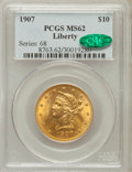 Liberty Eagles: , 1907 $10 MS62 PCGS. CAC. PCGS Population (6836/4091). NGC Census:(9768/6865). Mintage: 1,203,973. Numismedia Wsl. Price fo...