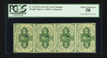 Fractional Currency:First Issue, Fr. 1242 10¢ First Issue Vertical Strip of Four PCGS Choice AboutNew 58.. ...