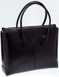 Luxury Accessories:Bags, Heritage Vintage: Tod's Dark Purple Classic D Medium LeatherShopping Bag. ...