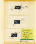 Explorers:Space Exploration, Lot of Twelve Astronaut Signatures, including: Brent Jett, ScottParazynski,Terrence Wilcutt, Daniel Barry, Wendy Lawrence, ...(Total: 12 Item)