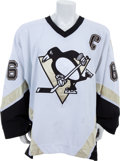 Hockey Collectibles:Uniforms, 2003-04 Mario Lemieux Game Worn Pittsburgh Penguins Jersey....