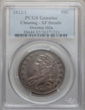 Bust Half Dollars: , 1812/1 50C Small 8 -- Cleaned -- PCGS Genuine. XF Details. O-102a.NGC Census: (9/70). PCGS Population (18/86). Numismedi...