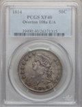 Bust Half Dollars: , 1814 50C E Over A XF40 PCGS. O-108a. PCGS Population (16/35).Numismedia Wsl. Price for problem free N...