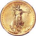High Relief Double Eagles, 1907 $20 High Relief, Wire Rim MS67 ★ NGC....