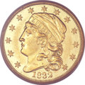 Early Quarter Eagles, 1832 $2 1/2 AU53 PCGS. CAC. BD-1, R.4. ...