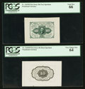 Fractional Currency:First Issue, Fr. 1243SP 10¢ First Issue Wide Margin Pair. PCGS Gem New 66 and Very Choice New 64.. ... (Total: 2 notes)