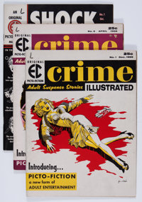 Crime Illustrated/Shock Illustrated Group (EC, 1955-56) Condition: Average FN.... (Total: 4 Comic Books)