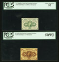 Fractional Currency:First Issue, Fr. 1229 5¢ First Issue PCGS Choice About New 58PPQ;. Fr. 1240 10¢ First Issue PCGS Choice About New 55.. ... (Total: 2 notes)