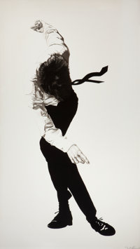 ROBERT LONGO (American, b. 1953) Cindy; Eric (2 works), 1984 Lithograph Each 68 x 39 inches (172
