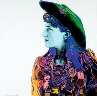ANDY WARHOL (American, 1928-1987) Annie Oakley (from Cowboys and Indians), 1986 Color screenprint
