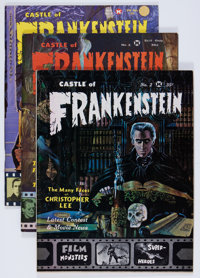 Castle of Frankenstein Group (Gothic Castle Printing, 1962-73) Condition: Average FN.... (Total: 15 Items)