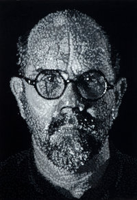 CHUCK CLOSE (American, b. 1940) Self-portrait, 2001 Colored pressed handmade paper pulp consisting o