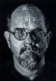 CHUCK CLOSE (American, b. 1940) Self-Portrait, 2001 Colored pressed handmade paper pulp consisting of eleven various g...