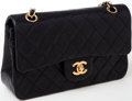 Luxury Accessories:Bags, Heritage Vintage: Chanel Black Lambskin Leather Medium Double FlapClassic Turnlock Shoulder Bag. ...