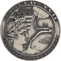 Explorers:Space Exploration, Apollo 17 Flown Silver Robbins Medallion, Serial Number F39....