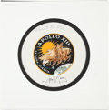 Explorers:Space Exploration, Apollo 13 Flown Beta Cloth Mission Insignia Directly from the Personal Collection of Mission Commander James Lovell, Signed an...