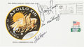 Explorers:Space Exploration, Apollo 13 Crew-Signed Insurance Cover Directly from the Personal Collection of Mission Commander James Lovell, Signed and Cert...