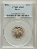 Barber Dimes: , 1916 10C MS63 PCGS. PCGS Population (337/477). NGC Census:(242/484). Mintage: 18,490,000. Numismedia Wsl. Price for proble...
