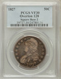 Bust Half Dollars: , 1827 50C Square Base 2 VF30 PCGS. O-128. PCGS Population (68/1795).NGC Census: (36/1921). Mintage: 5,493,400. Numismedia ...