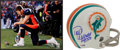 Football Collectibles:Others, Tim Tebow and Paul Warfield Signed Memorabilia Lot of 2....