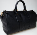 Luxury Accessories:Travel/Trunks, Heritage Vintage: Chanel Black Caviar Leather Weekender Bag withGold Hardware. ...