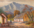 Texas:Early Texas Art - Regionalists, ROLLA SIMS TAYLOR (American, 1872-1970). Pueblo Landscape,Mexico. Oil on canvas board. 16 x 20 inches (40.6 x 50.8 cm)...