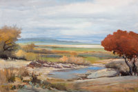 ROBERT WILLIAM WOOD (American, 1889-1979) Helotes Creek, Texas Oil on canvas 24 x 36 inches (61.0