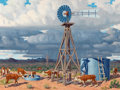 Texas:Early Texas Art - Regionalists, FRED DARGE (American, 1900-1978). The Approaching Storm. Oilon canvas. 18 x 24 inches (45.7 x 61.0 cm). Signed lower ri...