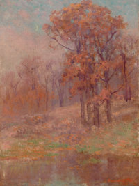 DAWSON DAWSON-WATSON (British/American, 1864-1939) Fall Landscape, 1914 Oil on canvas 24 x 18 inc
