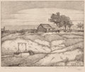 Prints, EDWARD G. EISENLOHR (American, 1872-1961). Old Town Santa Fe and Dallas Landscapes (group of ten). Lithographs on paper... (Total: 10 Items)