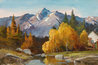 ROBERT WILLIAM WOOD (American, 1889-1979) Grand Teton National Park Oil on canvas 24 x 36 inches